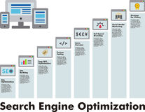 SEO information graphic template Royalty Free Stock Images