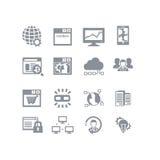 SEO & insieme dell'icona della base di dati Fotografie Stock