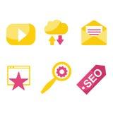 SEO and internet icon set Royalty Free Stock Image