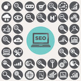 SEO and Internet icons set. Royalty Free Stock Photography