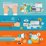 Seo Internet Marketing Banner illustration de vecteur