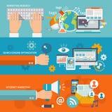 Seo Internet Marketing Banner vector illustration