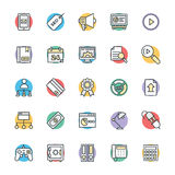 SEO and Internet Marketing Cool Vector Icons 4 Royalty Free Stock Images