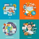Seo Internet Marketing Flat Images libres de droits