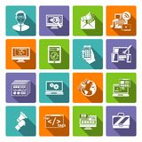 Seo Internet Marketing Flat Icon Stock Images