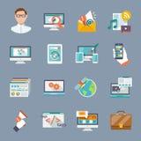 Seo Internet Marketing Icon Photographie stock