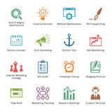 SEO & Internet Marketing Icons - Set 5 | Colored S Royalty Free Stock Photos