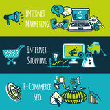 SEO internet marketing set Royalty Free Stock Images