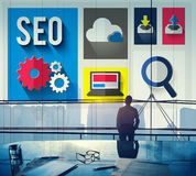 SEO Internet Online Optimization Search Technology Concept Stock Photo