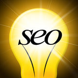 Seo Internet Represents World Wide rengöringsduk och optimering vektor illustrationer