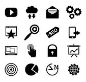 SEO and internet vector icon set Web, website Stock Photography