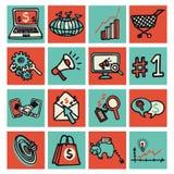 SEO interneta marketingu set Zdjęcie Royalty Free