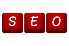 SEO keys Keyboard Red Isolated Stock Photo