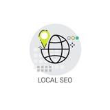 Seo Keywording Search Icon local Photographie stock libre de droits