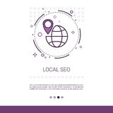 Seo Keywording Search Web Banner local avec l'espace de copie Images stock