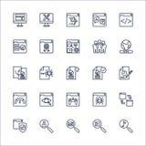 SEO konturu ikona ustawiający wektor Zdjęcia Royalty Free