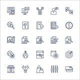 SEO konturu ikona ustawiający wektor Zdjęcia Stock