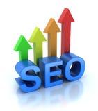 SEO - La optimización del Search Engine está creciendo ilustración del vector