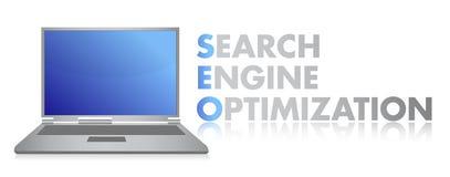 SEO laptop illustration design Stock Photo