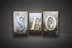 SEO Letterpress Concept Lizenzfreie Stockfotografie