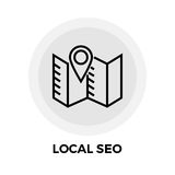 SEO Line Icon local Photos libres de droits