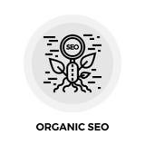 SEO Line Icon orgánico Imagen de archivo