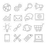 SEO Line Icons Photos stock