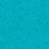 SEO Line Tile Pattern bleu illustration de vecteur