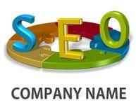 SEO  logo company concept Stock Photography