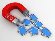 SEO Magnet Lizenzfreies Stockfoto
