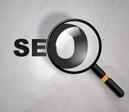SEO Magnifying Glass Stock Photo