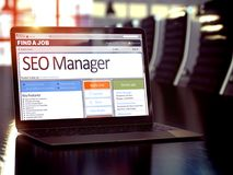 We Hiring SEO Manager. 3D. Stock Photos