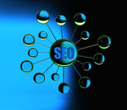 Seo map Stock Images