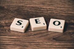 SEO Marketing Stock Image