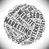 SEO and Marketing. Cloud of words. Stock Photos