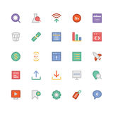 SEO and Marketing Colored Vector Icons 5 Royalty Free Stock Photo