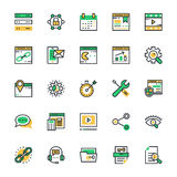 SEO and Marketing Colored Vector Icons 2 Royalty Free Stock Photography