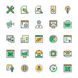 SEO and Marketing Colored Vector Icons 3 Stock Image