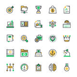 SEO and Marketing Colored Vector Icons 6 Royalty Free Stock Photography