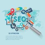 Seo Marketing Flat Royalty Free Stock Images