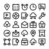 SEO and Marketing  icons 8 Royalty Free Stock Image