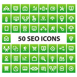 SEO and marketing icons Royalty Free Stock Images