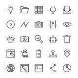 SEO and Marketing Outline Vector Icons 3 Royalty Free Stock Photography