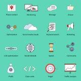 SEO marketing set stock illustration