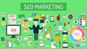 Seo Marketing Typography Design illustration stock