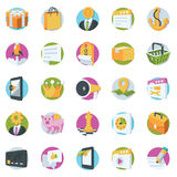 Seo and Marketing Vector Icons Royalty Free Stock Photography