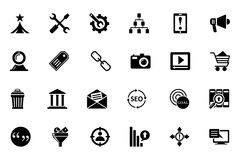 SEO and Marketing Vector Icons 2 Royalty Free Stock Photography