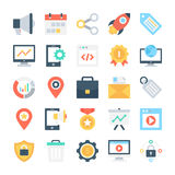SEO and Marketing Vector Icons 3 Royalty Free Stock Photo