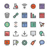 SEO and Marketing Vector Icons 5 Stock Images