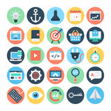 SEO and Marketing Vector Icons 1 Royalty Free Stock Photo